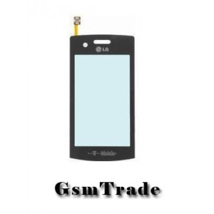 LG GT-500 fekete érintőpanel, touchscreen