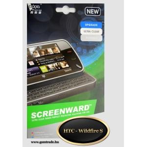 HTC Wildfire S képernyővédő fólia, screenprotector