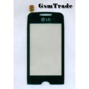 LG GS290 utángyártott fekete érintőpanel, touchscreen