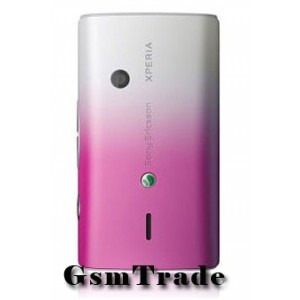 Sony Ericsson X8 gyár hátlap rózsasín