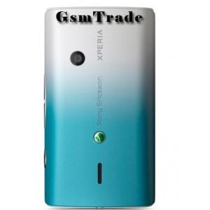 Sony Ericsson X8 gyár hátlap kék