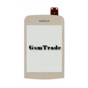 Nokia C2-02, C2-03, C2-06, C2-07, C2-08 gyári érintőpanel, touch, arany