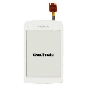 Nokia C2-02, C2-03, C2-06, C2-07, C2-08 gyári érintőpanel, touch, fekete