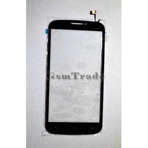 Alcatel OT-7040 Pop C7 gyári fekete érintőpanel, touchscreen