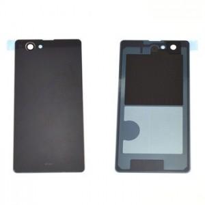 Sony Xperia Z1 Compact fekete utángyártott akku fedél, hátlap