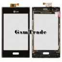 LG Optimus L5 E610 fekete érintőpanel keretben, touchscreen